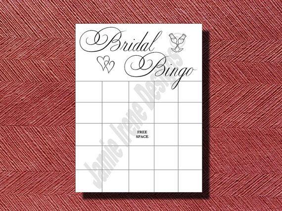 Bridal Shower Bridal Bingo Game DIY PrintReady by WeddingsByJamie, $10.00