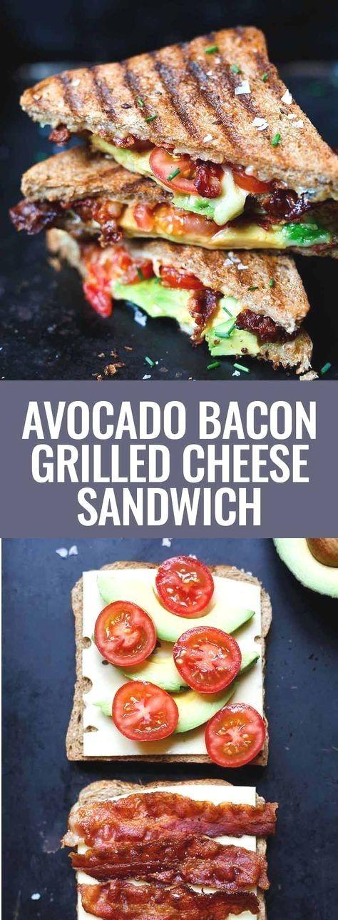 Avocado Bacon Grilled Cheese Sandwich Rezept - Kochkarussell : Werbung. Avocado Bacon Grilled Chees