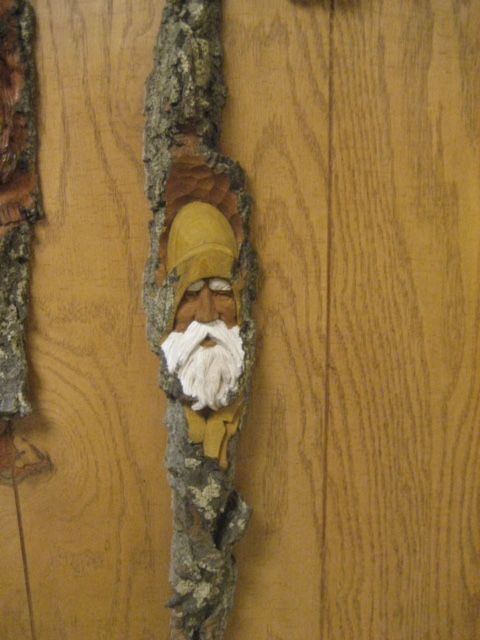 Old man from the sea. Cottonwood bark. Hand carved. 15x4x2. Private  collection Ilinois. 4c79fd4be972