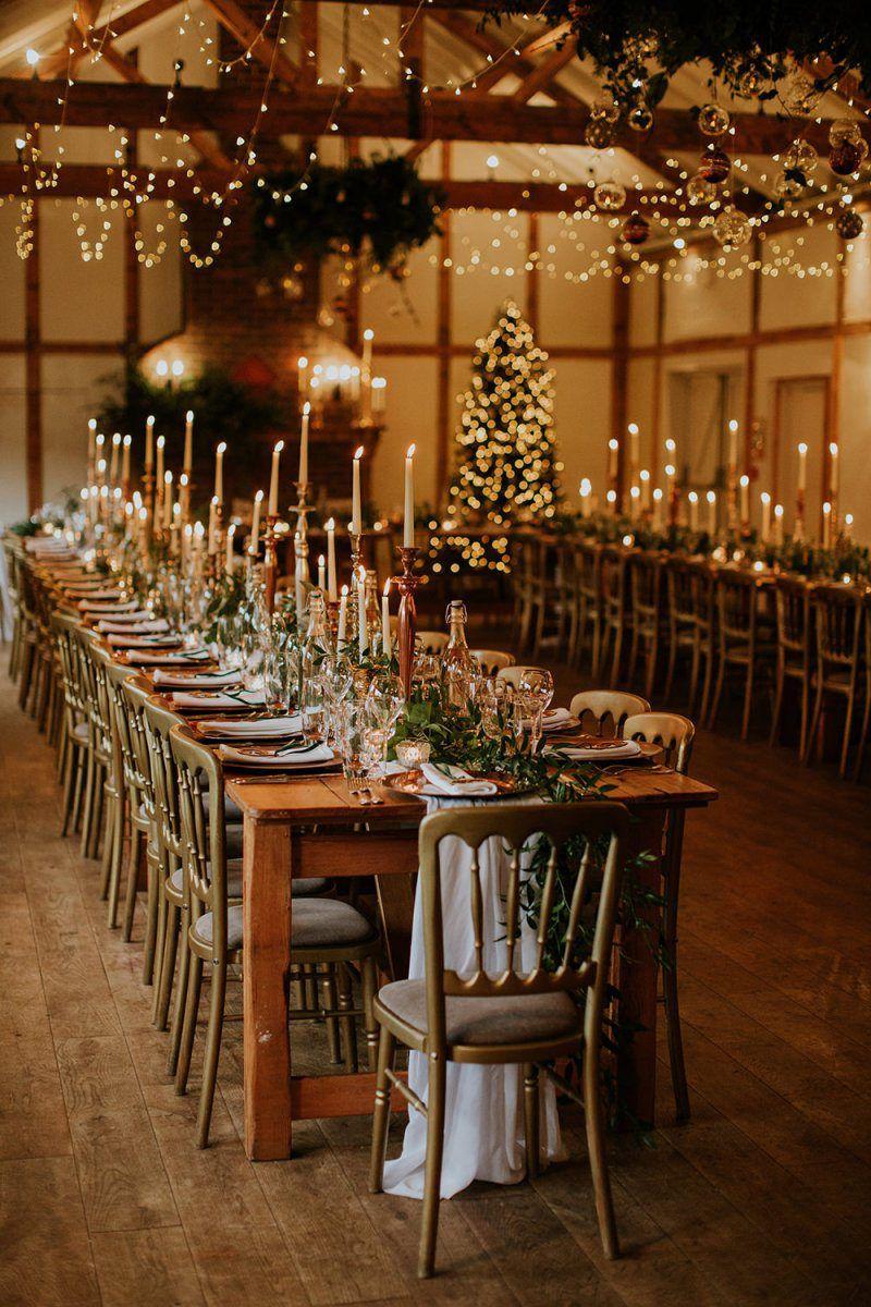 Burley Manor Winter Wedding with Sequin Bridesmaids