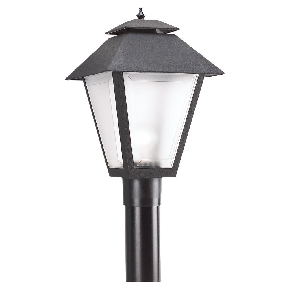 Sea Gull Lighting Polycarbonate Outdoor Collection 10 5 In W 1 Light Outdoor Black Post Light With Frosted Lens 82065 12 With Images Post Lights Sea Gull Lighting Outdoor Post Lights