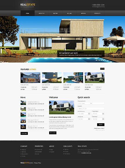 real estate agency website template httpwwwtemplatemonstercomwebsite templates41662htmlutm_sourcepinterestutm_mediumtimelineutm_campaign real