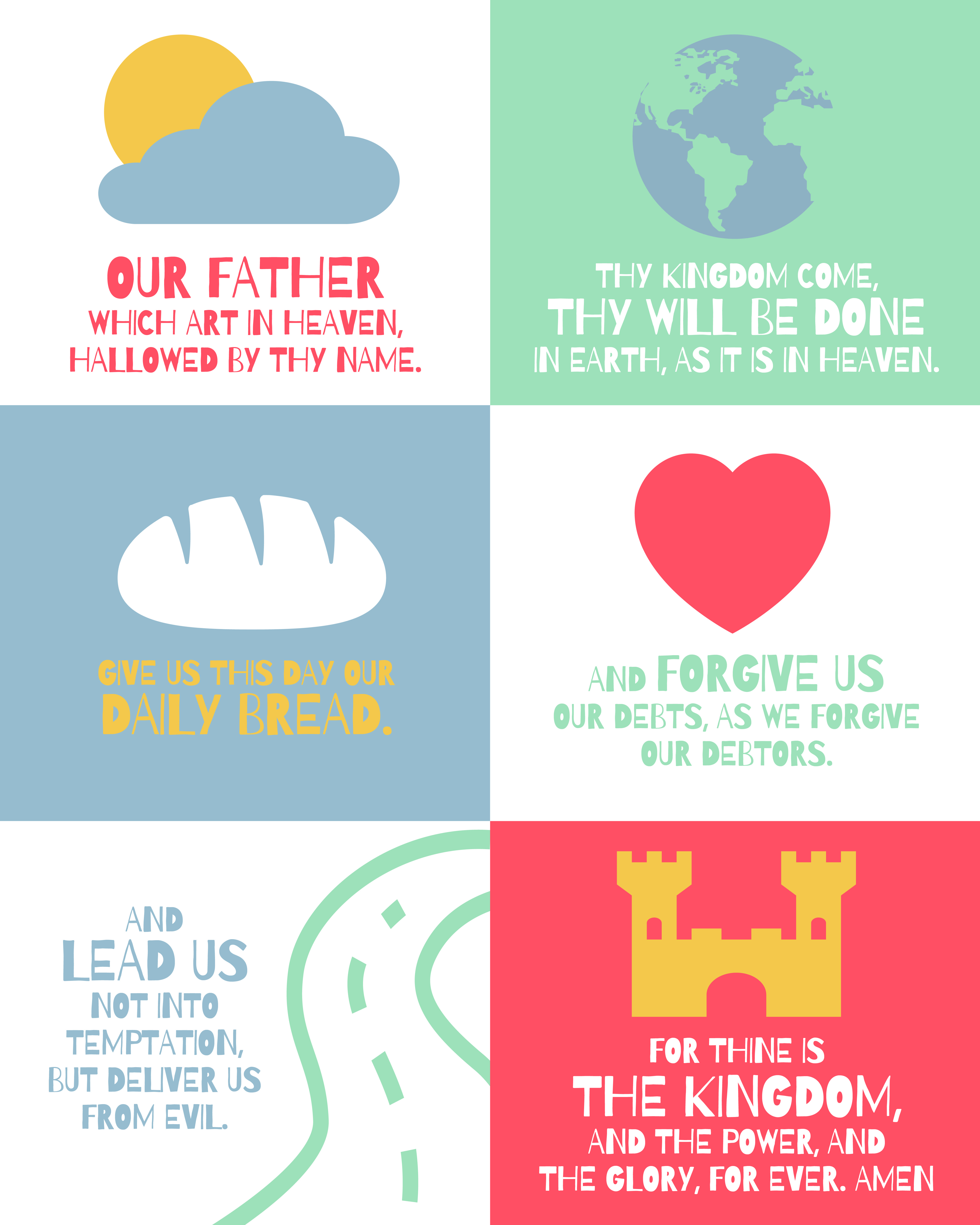 Large Lord S Prayer Posters For Kids With Images