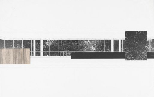 Drawings By Mies Van Der Rohe Bacardi Building 1957 Architecture Collage Architecture Drawing Architecture Graphics