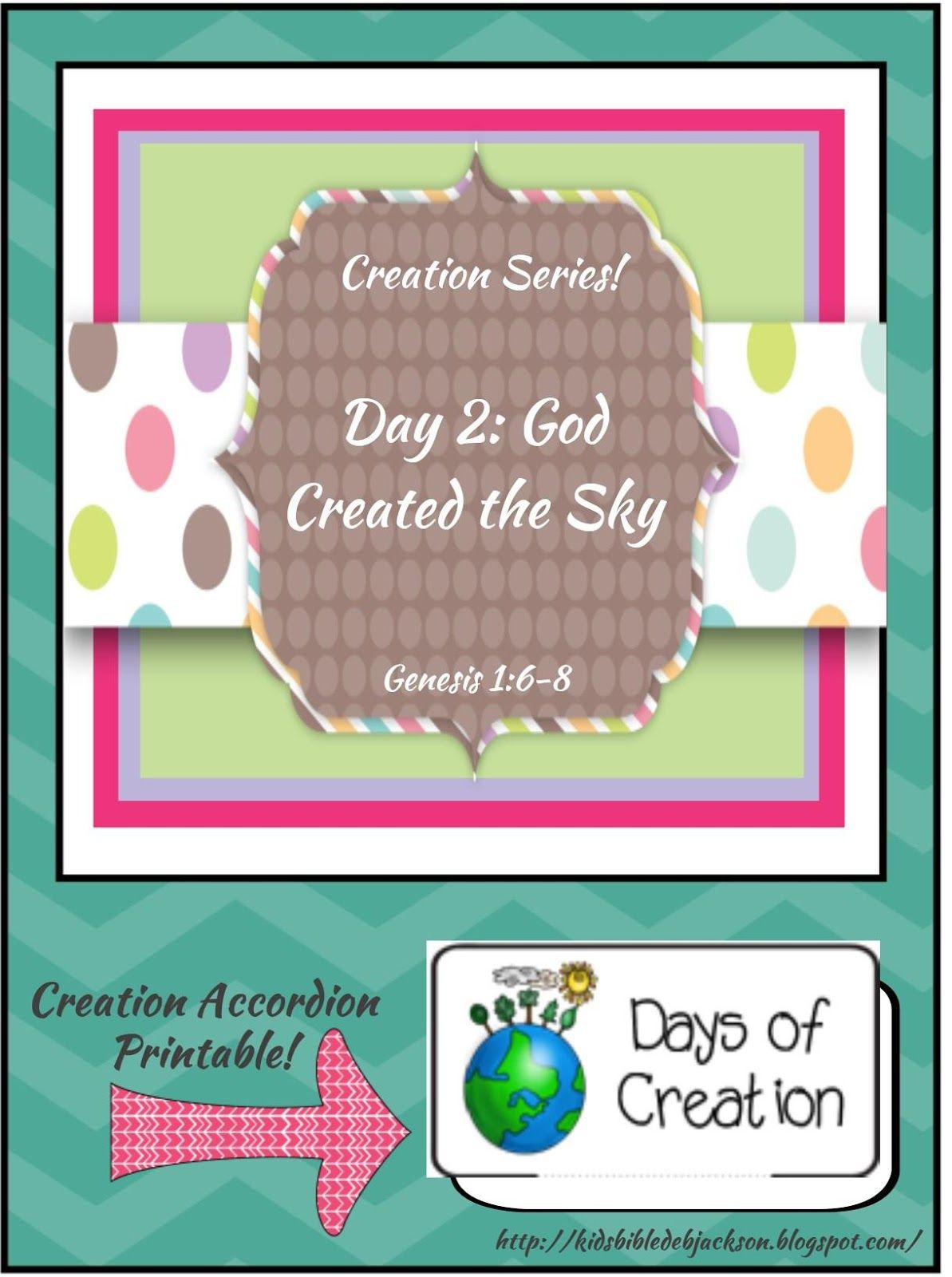 Bible Fun For Kids The Creation For Kids Day 2