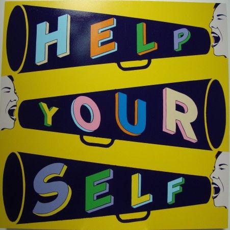 Guerrero Gallery Damon Styer Help Your Self To Stephen Powers 48in X 48in One Shot Enamel On Panel
