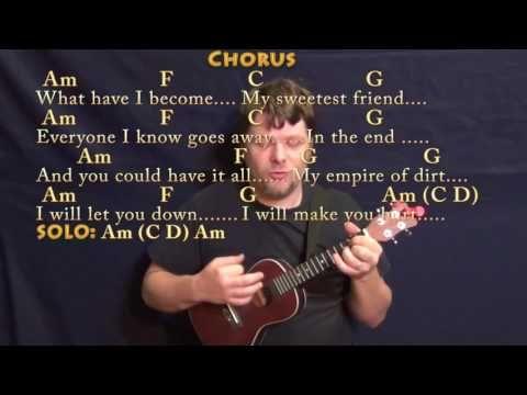 Hurt (Johnny Cash) Ukulele Cover Lesson with Chords/Lyrics - YouTube ...
