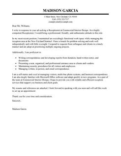 Receptionist Cover Letter Examples | Administration | LiveCareer ...