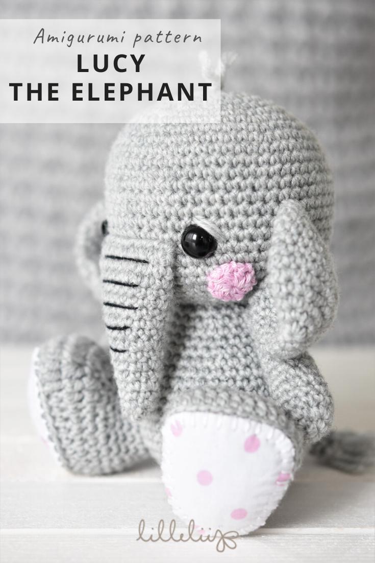 Amigurumi crochet elephant - pattern