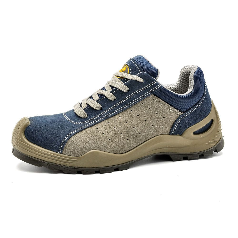 Safetoe Safety Work Shoes Mens Boots Blue Breathable Steel Toe Lace-up  L-7295 | Boots men, Work shoes, Safety shoes