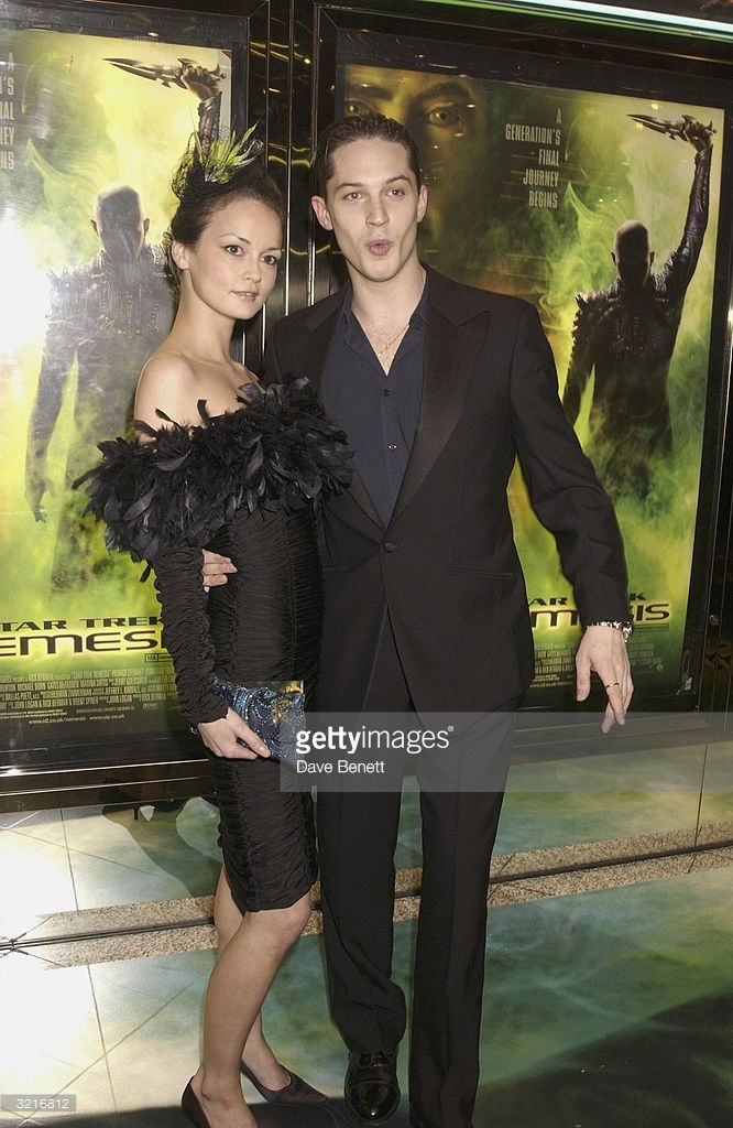 Actor Tom Hardy with his girlfriend attends the UK film premiere of 'Star Trek Nemesis' at the Leicester Square Odeon on December 17, 2002 in London.