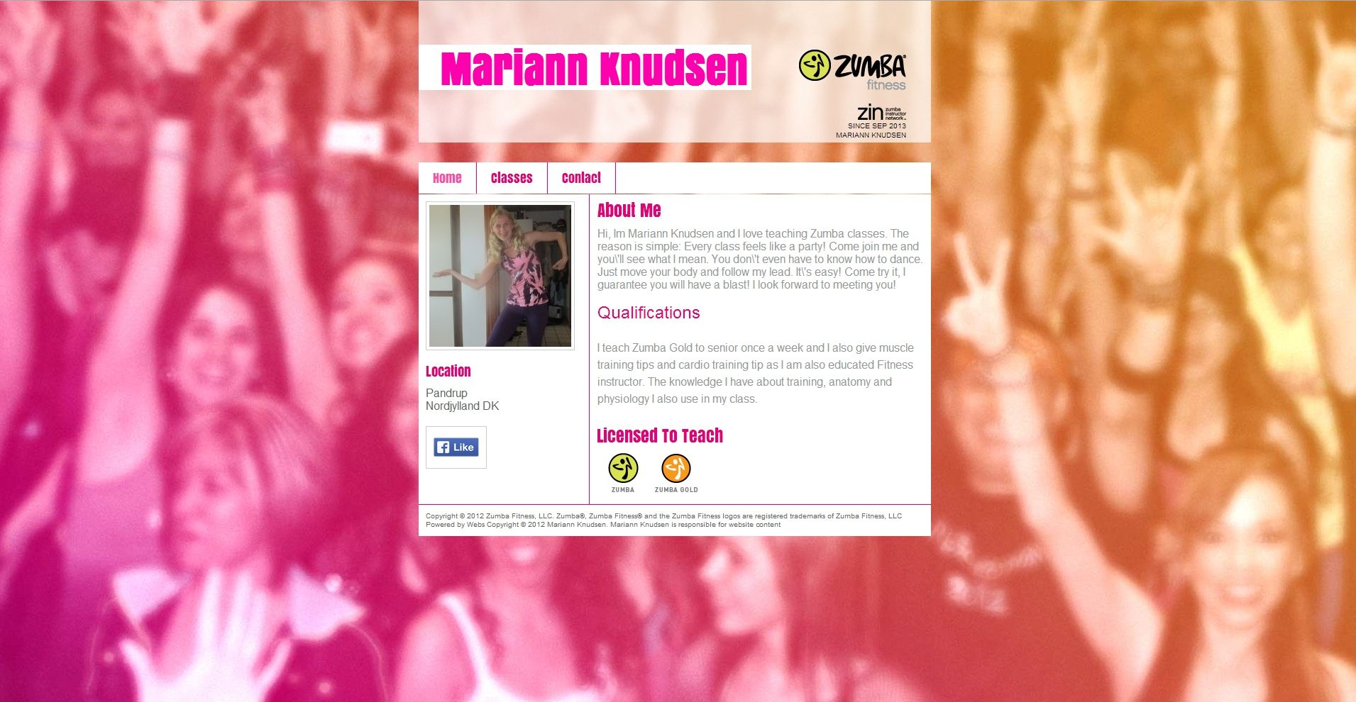 Here is my new Zumba Website design :) Hope you like it :)