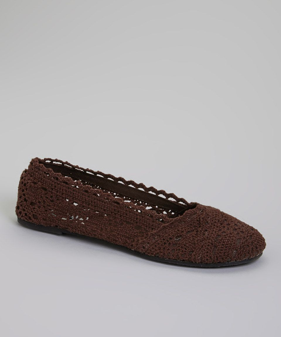 Another great find on #zulily! Brown Crochet Flat by Ositos Shoes #zulilyfinds