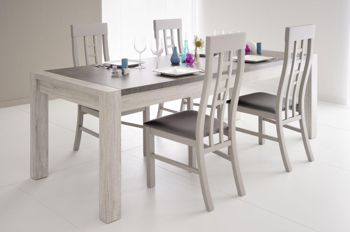 XL Esstisch Malone inkl. Stühle in 2er Set Portofino Grau Jetzt ...