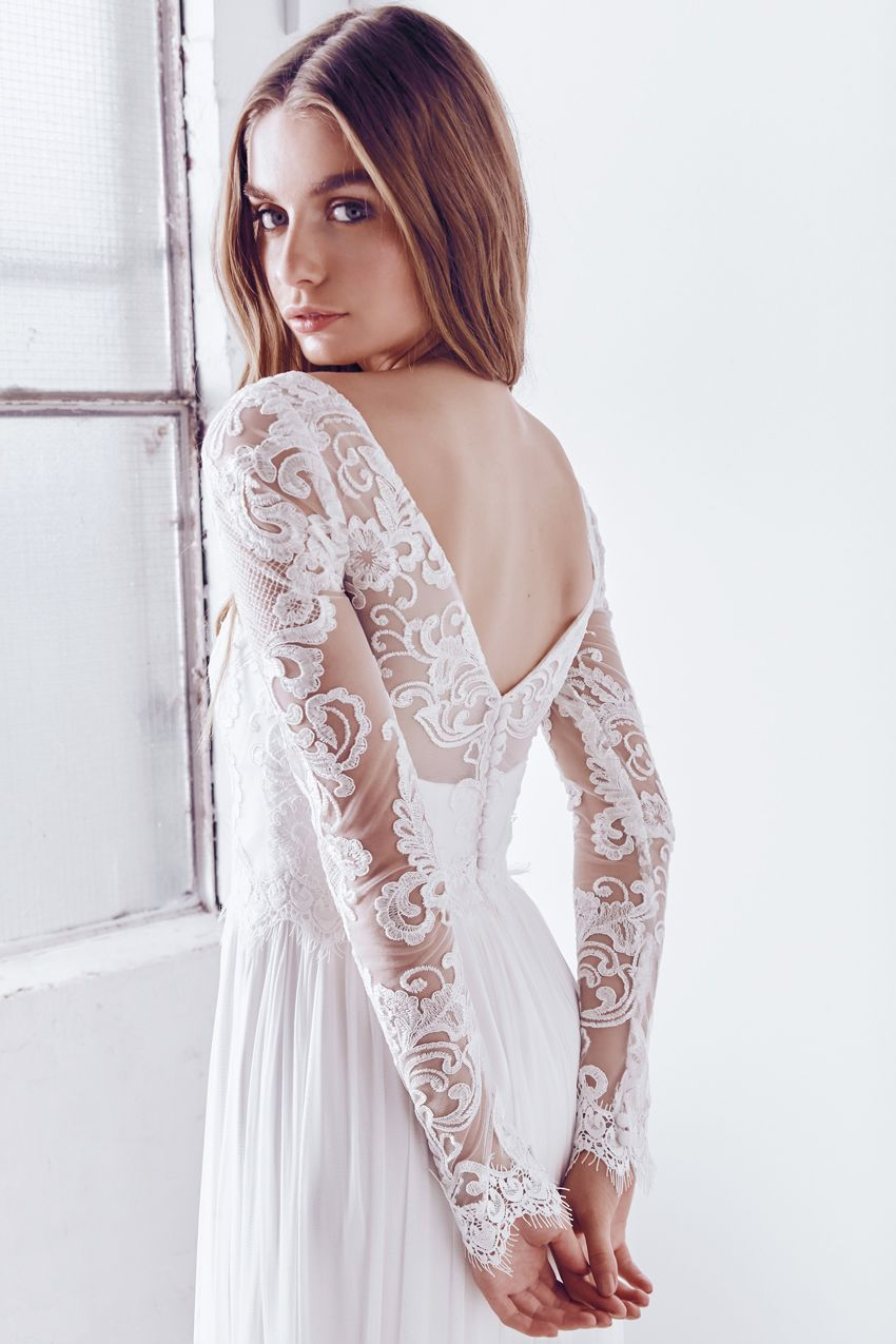 Anna campbell ceremony collection india silk tulle lace long