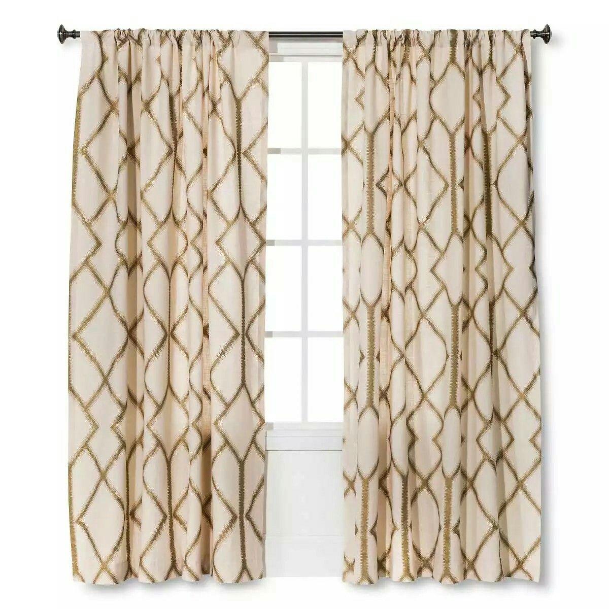 New Trends Curtain Panels Living Room Decor Farmhouse Style Dining Curtains Shangri La Metallic Target Looks