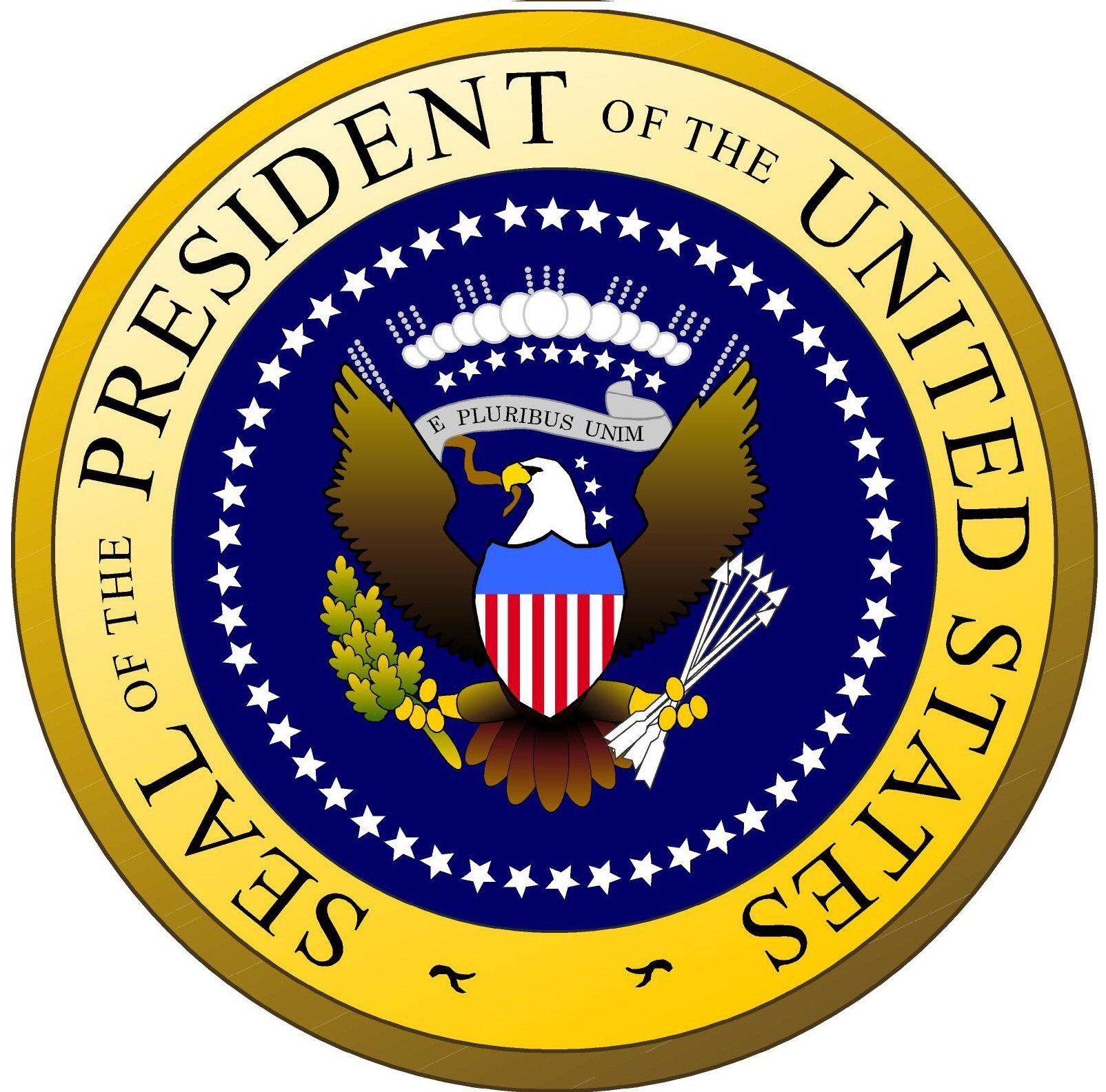 El escudo de Estados Unidos representado con un águila real ...