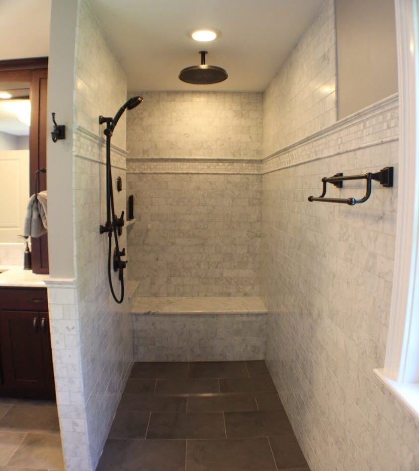 Building A Walk In Shower Shower Remodel Beautiful Bathrooms