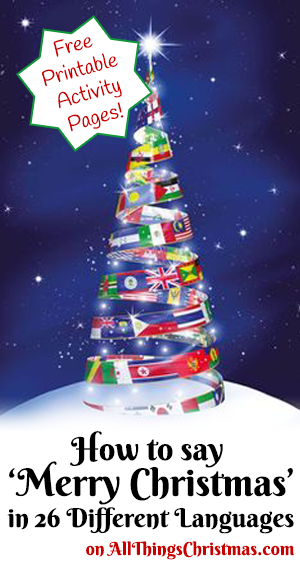 photograph regarding Merry Christmas in Different Languages Printable named How in the direction of say Merry Xmas in just Alternate Languages - Cost-free