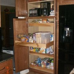 Add Pull Out Drawers To Existing Pantry. Great Idea!