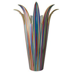 Vase rouge H. 37 cm en porcelaine de la collection Al dente Bernardaud