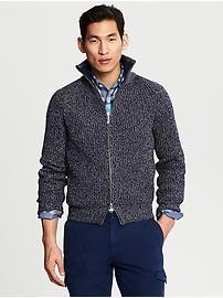 Modern Full-Zip Sweater Jacket