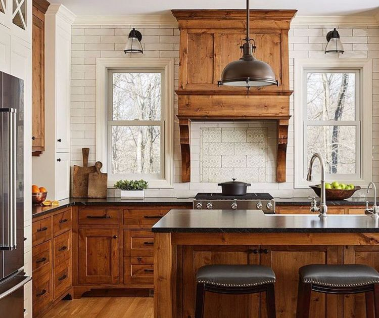 stained cabinets brown kitchen cabinets kitchen cabinet design farmhouse kitchen design on kitchen cabinets natural wood id=41180