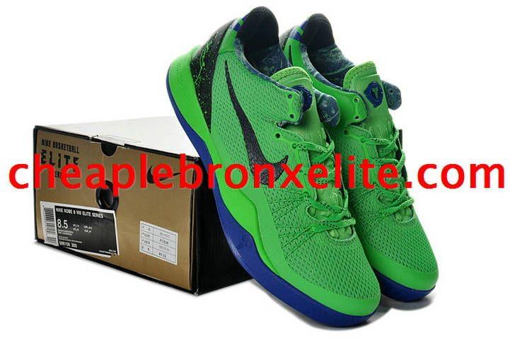 c9bdb5b50e5f Kobe 8 Shoes Elite Superhero Poison Green Black Blue Hyper Blue ...