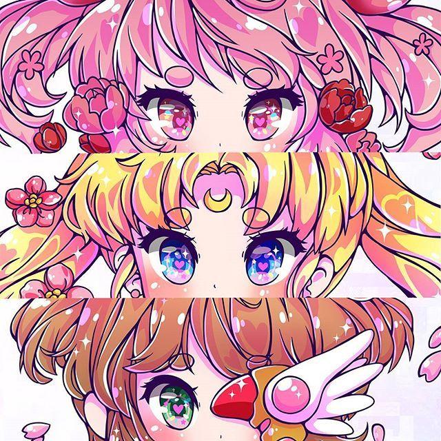 Magical Girls Eyes Sailormoon Cardcaptorsakura