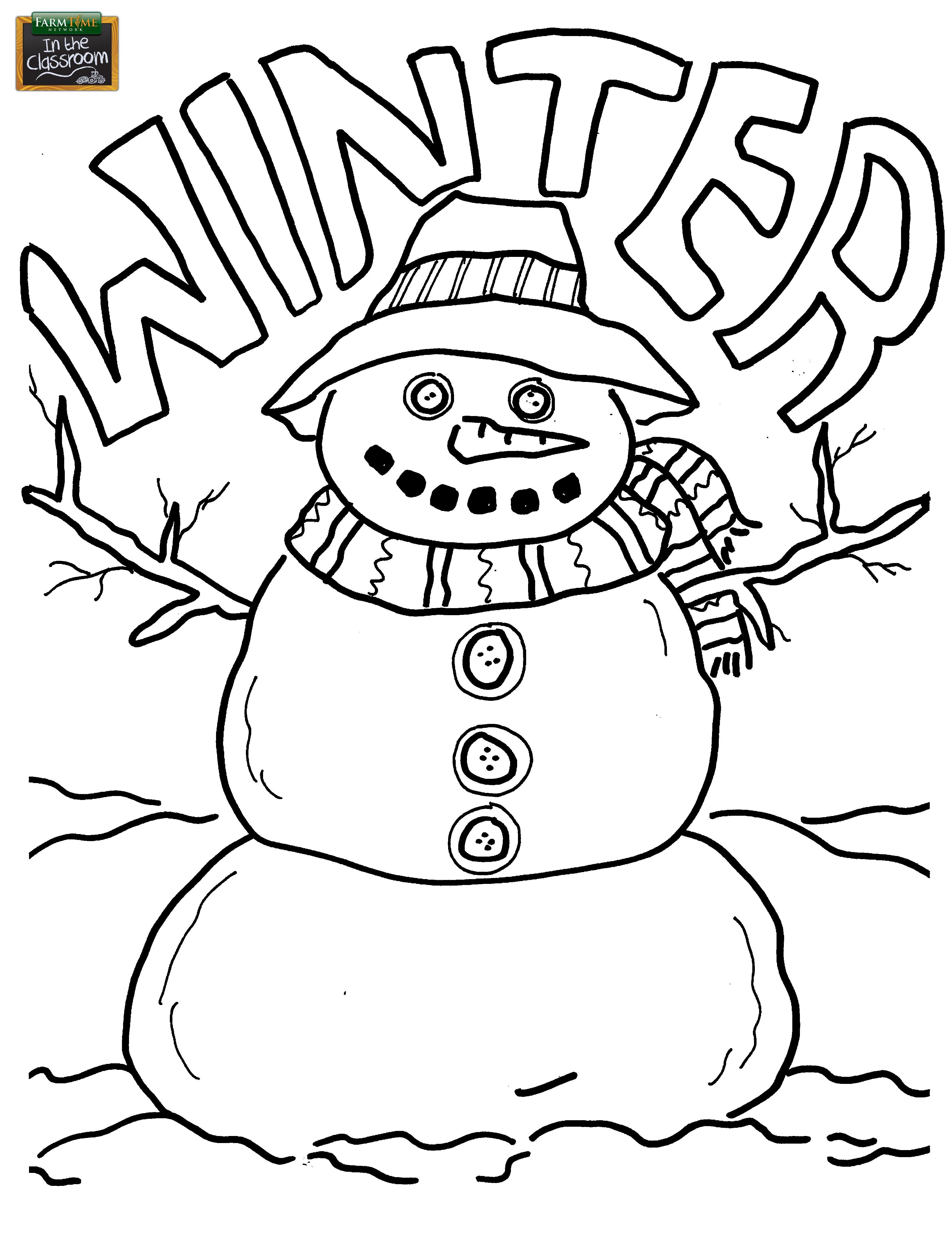 Christmas coloring page perfect activity for the classroom