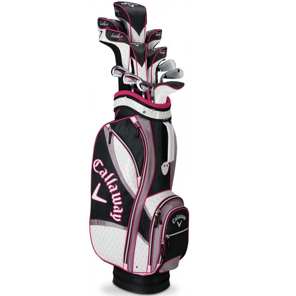 Callaway Women S Solaire Gems Complete Golf Club Set With Bag 13 Piece Right Hand Graphite Las Black Sports Outdoors