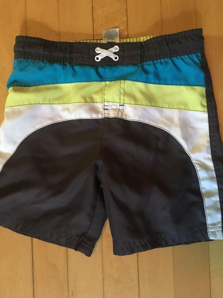 d437e2dfe90fc Target circo Boys Size 4t Bathing Swim Suit Drawstring Gray blue yellow  white #fashion #clothing #shoes #accessories #babytoddlerclothing # ...