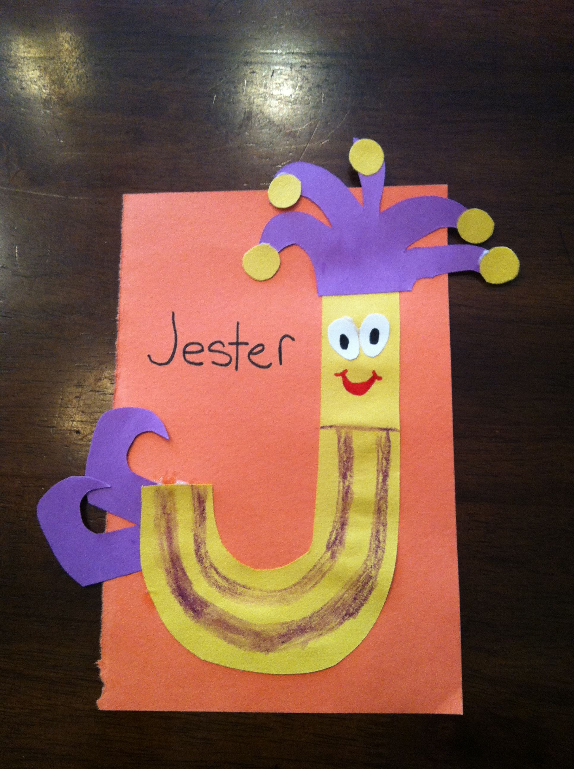 Letter J Craft J Is For Jester Alphabet Craft Letter J J