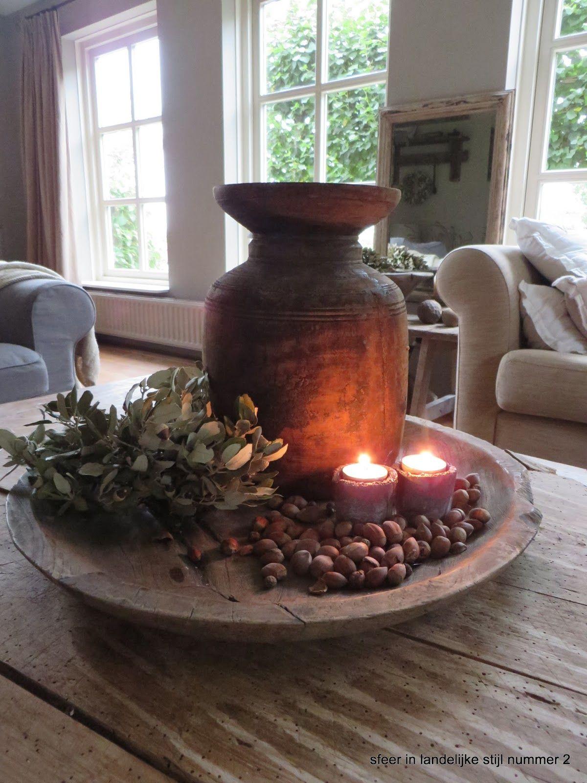Stoer verweerd oud sober landelijk wonen interieur for Decoratie tafel landelijk