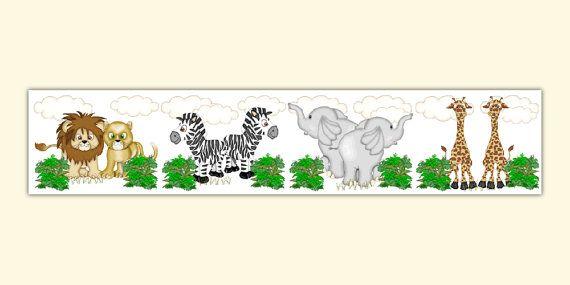 Safari Animal Wallpaper Border Decals Jungle By Decampstudios