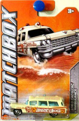 1963 Cadillac Ambulance Matchbox 2012 BEACH #11/120 Yellow & Brown