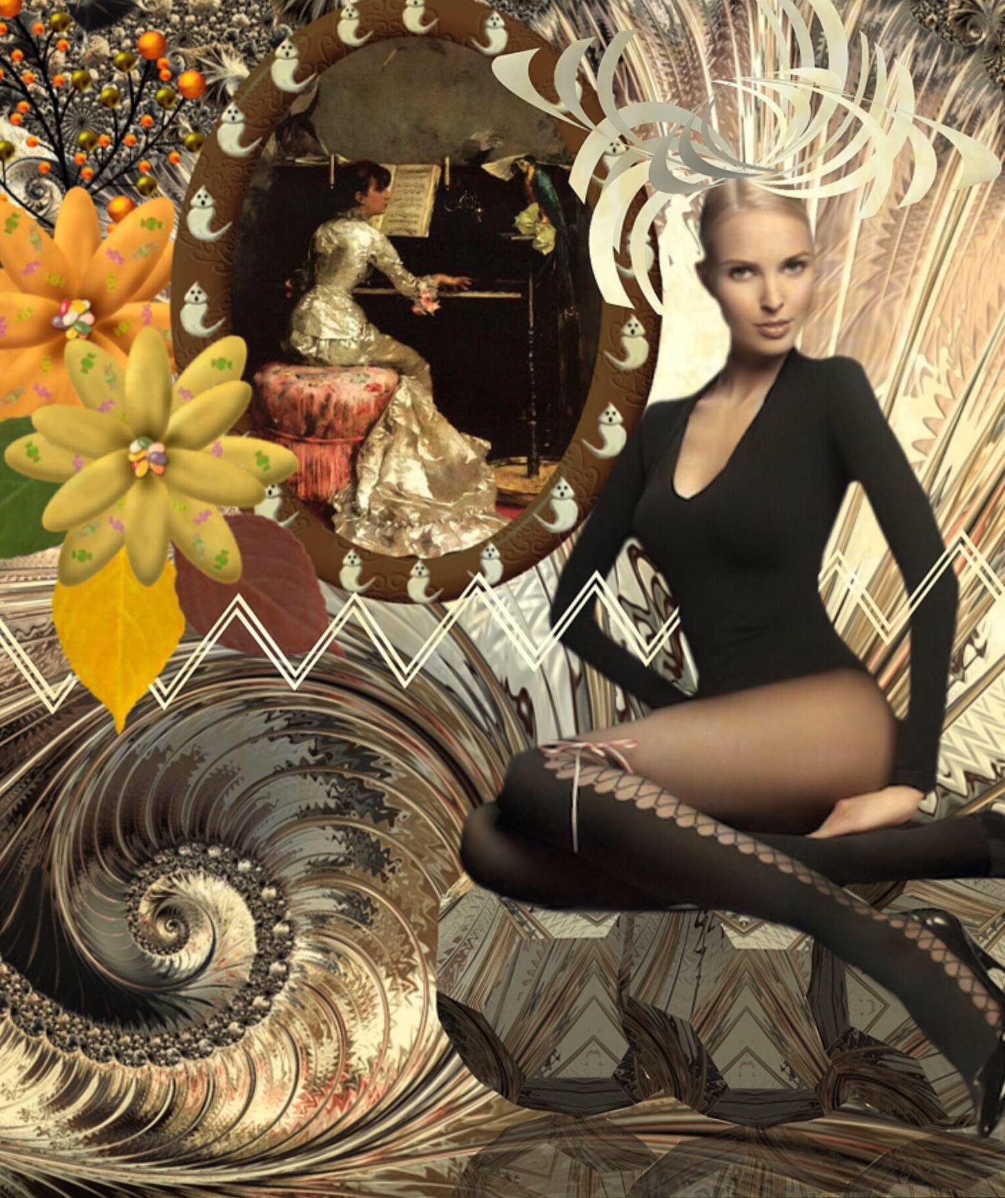 Women past and present ... // Frauen früher und heute - Diese  Collage wurde erstellt von Gerd Schremer