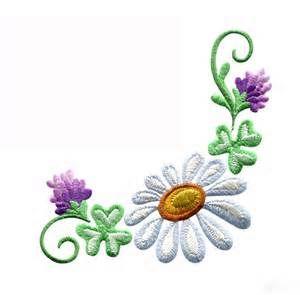 Daisy Floral Border 3 Embroidery Design