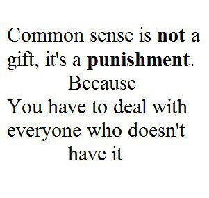 Common Sense Quotes Funny Quotes Quotes To Live By