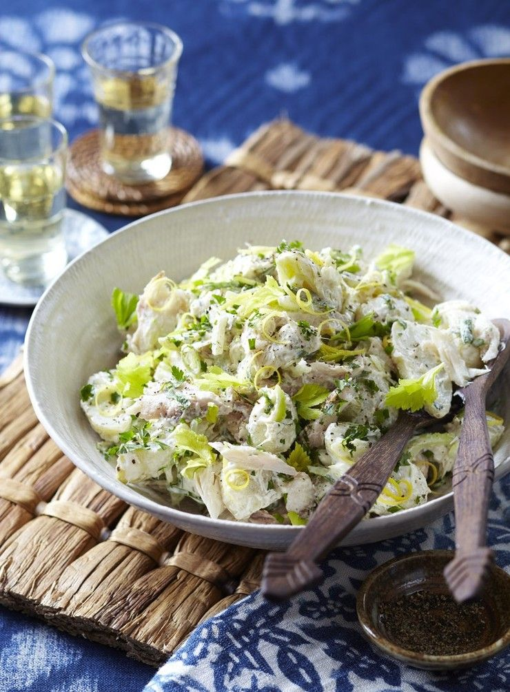 Horseradish And Smoked Fish Were Made To Go Together And When Combined With Waxy Potatoes They Make Yummy Salad Recipes Salad Recipes With Bacon Salad Recipes