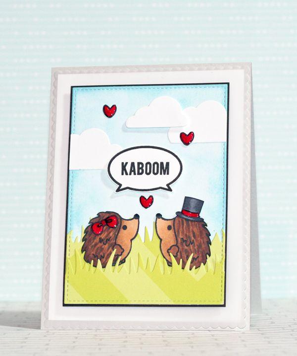 Sweet stamp shop valentine's card #ssshedgehogkisses