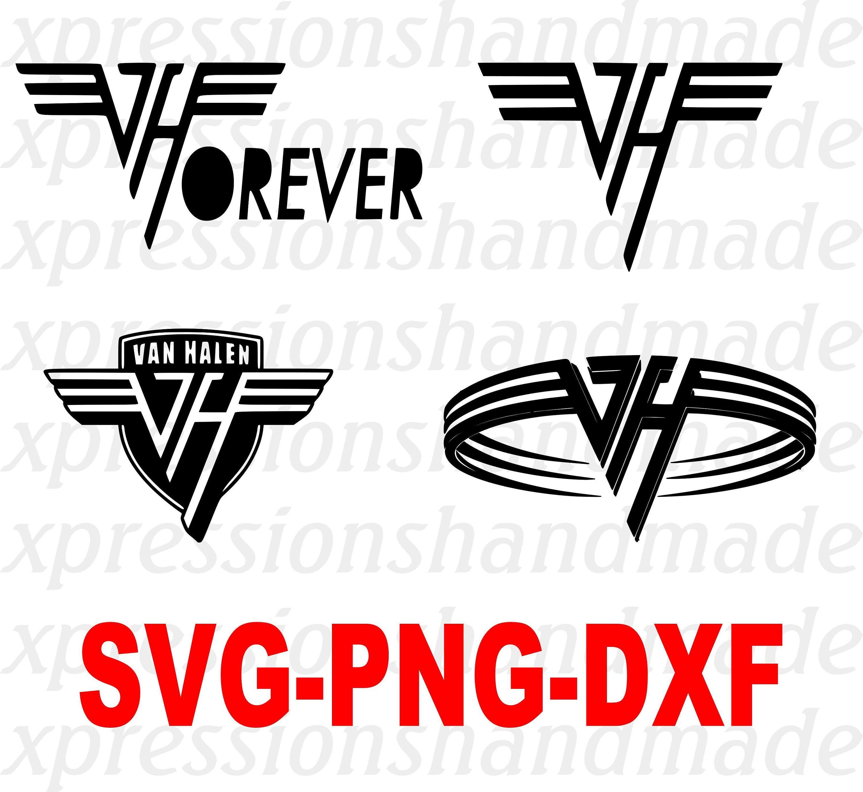 Van Halen Svg Png Dxf Digital Download Etsy In 2021 Van Halen Van Halen Logo Halen