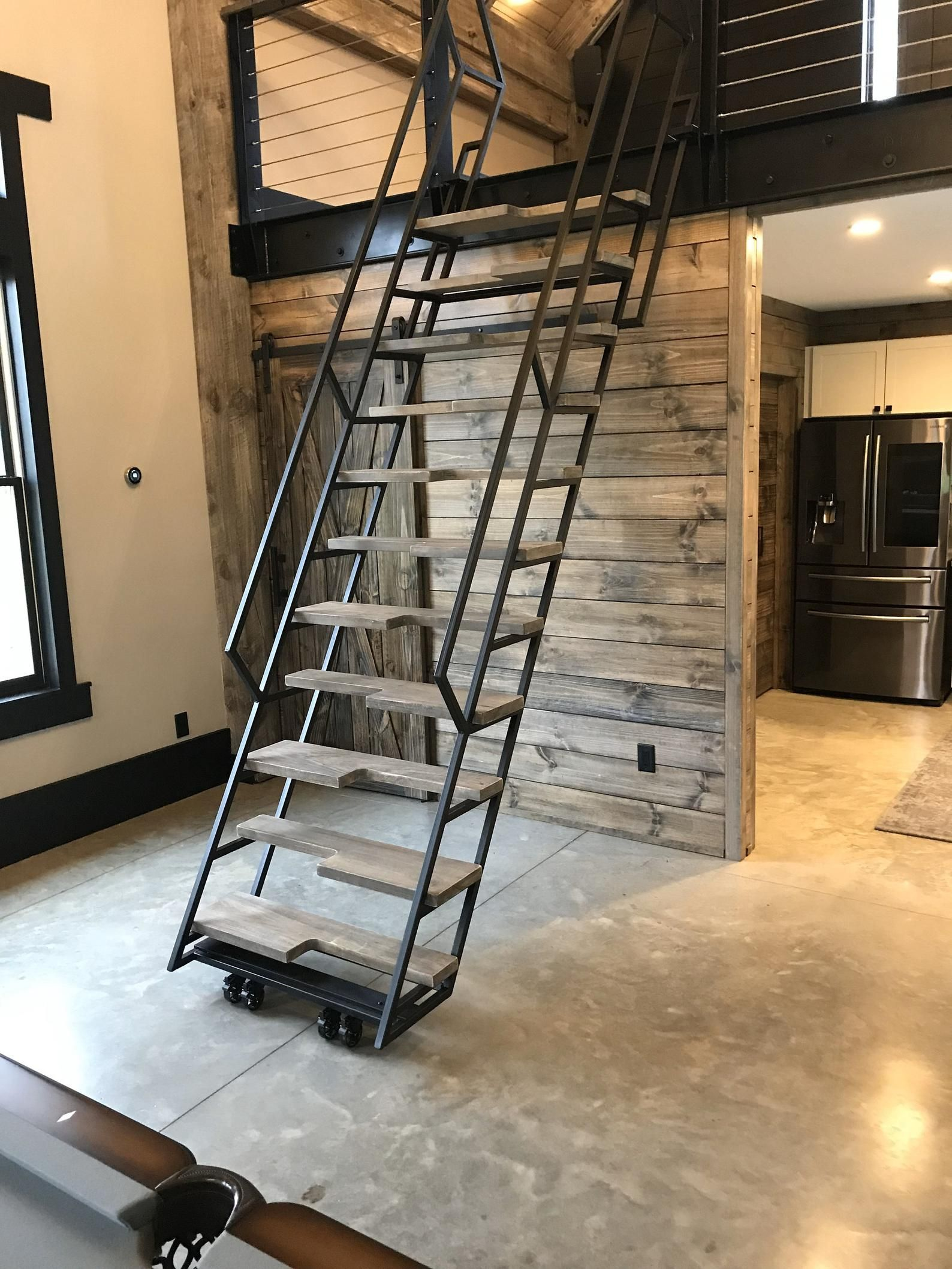 8 Ft Loft Ladder Stairs Free Shipping To Your Door Etsy In 2020 Loft Ladder Tiny House Stairs Retractable Stairs
