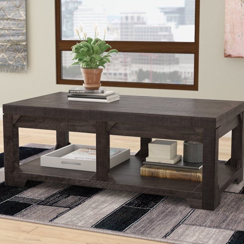 Boutwell solid wood lift top coffee table with storage
