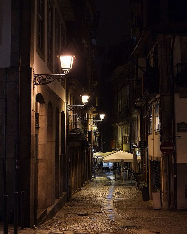 Image result for porto streets night images
