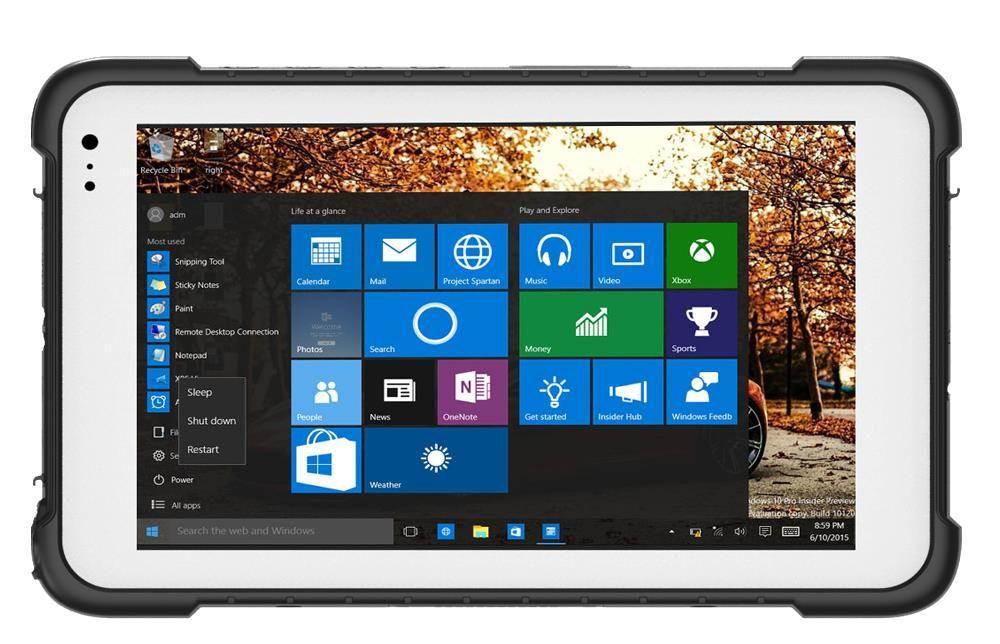 China Handheld Terminal 8 Rugged Tablet Windows 10 Pro Os Pc Computer Mini Waterproof