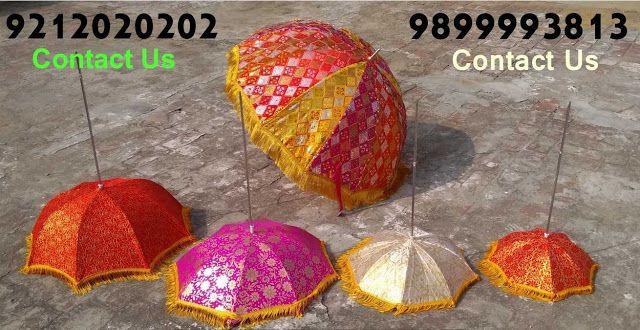 Decorated Umbrellas For Indian Weddings New Delhi India