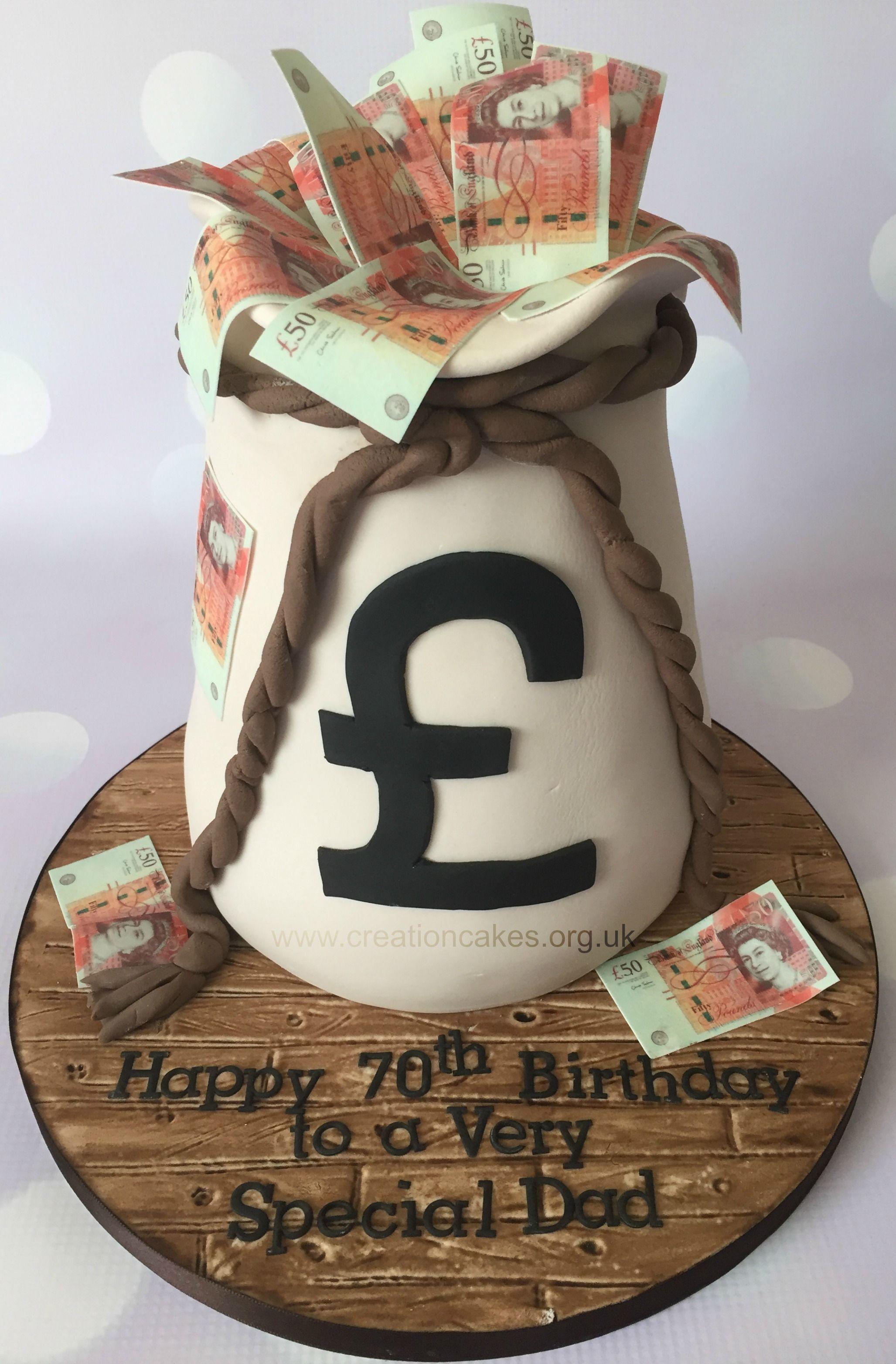Astonishing Bag Of Money Cake Birthday Birthday Cake Funny Birthday Cards Online Kookostrdamsfinfo