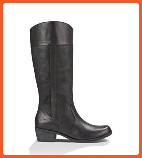 UGG Women's Cassis Black Leather Boot 7.5 B (M) - Boots for women (