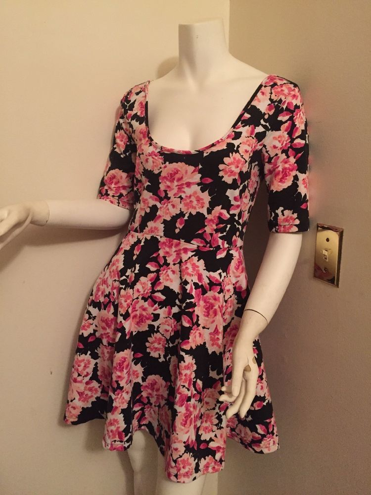 a8081fd2ae06 Aeropostale Pink And Black Floral Babydoll Dress #fashion #clothing #shoes  #accessories #womensclothing #dresses (ebay link)